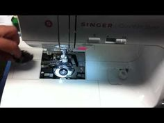 Cleaning and oiling hook area on Singer 9960 Sewing Machine