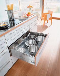 #Blum drawers for clever #kitchenstorage