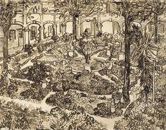 Garden of the Hospital, 1889, Vincent van Gogh, Van Gogh Museum, Amsterdam