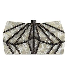 NATHALIE TRAD Xestia Mother of Pearl box clutch. #nathalietrad #bags #clutch #hand bags #
