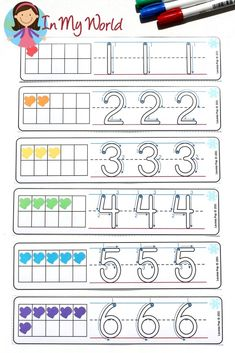 FREE Winter Math Centers for Kindergarten. Number Tracing cards.