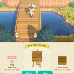 Animal Crossing Guide, Animal Crossing Villagers, Animal Crossing Qr Codes Clothes, Path Design, Bridge Design, Motif Tropical, Ac New Leaf, Path Ideas, Motifs Animal