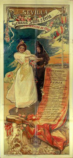 1900 Semana Santa i Feria de Sevilla Albertina