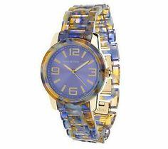 Isaac Mizrahi Live! Colorful Marbled Bracelet Watch