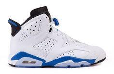 $119.99 384664-107 Air Jordan 6 Sport Blue (White/Sport Blue-Black ) http://www.newjordanstores.com/