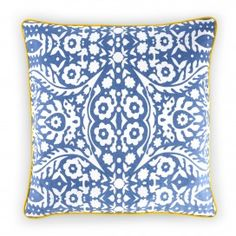C. Wonder pillow cover. Love the blue & yellow.