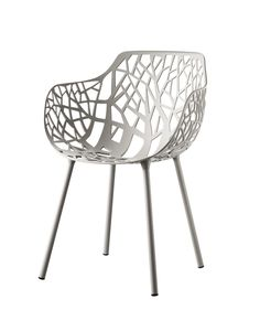 FOREST collection. Armchair Powder Grey / Poltrona Grigio Polvere. FAST IN_OUT_ALUMINIUM