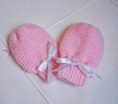 Minhas linhas e eu: Receita de luvinha para bebê, em tricot