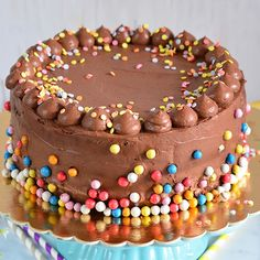 Birthday Cake, Birthday Parties, Sprinkles, Food And Drink, Candy, Kitchen, Pies, Birthday Celebrations, Sweet