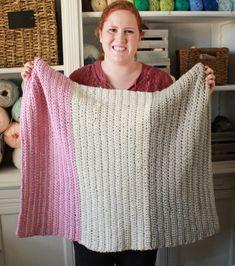 Modern half double crochet beginner blanket image