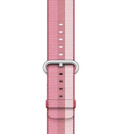 Apple Watch bandje van geweven nylon bessenrood  SHOP ONLINE: https://www.purelifestyle.be/apple-watch-bandje-van-geweven-nylon-bessenrood.html