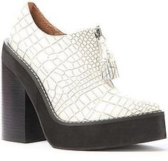 Jeffrey Campbell The Fink Shoe in White Croc on shopstyle.com