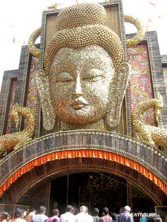 Budha decoration at a Durga puja venue, Kolkata,2012
