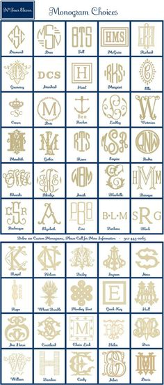 Making a Custom Needlepoint Monogram discusses how to design a monogram (part & how to turn it into needlepoint (part By expert Janet M. Crazy Quilting, Logo Inspiration, Abc Letra, Shilouette Cameo, Typographie Logo, Monogram Fonts, Monogram Styles, Monogram Design, Monogram Letters