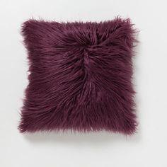 BURGUNDY FAUX FUR CUSHION - Decorative Pillows - Decor and pillows | Zara Home United States