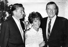 Duke John Wayne with President and Mrs. Ronald Reagan