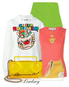 """Moschino Boom Box Perspex shoulder bag"" by lindsayd78 ❤ liked on Polyvore featuring Moschino, Carolina Herrera, Giuseppe Zanotti and Alisa Michelle"