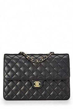 7f649e3f4f599a Gorgeous Chanel Hand Bags · $3050 - CHANEL Black Quilted Lambskin Turnlock  Ex Flap Medium (Pre-Owned) This