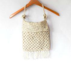 Boho Granny Square Purse ~free #crochet pattern by Mama In A Stitch. #handmade