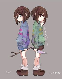 Undertale Fanart Frisk and Chara