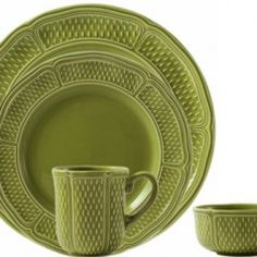Pont Aux Choux Vert Dinnerware by Gien | Gracious Style
