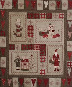 how awesome is this scandinavian christmas quilt??? it's for sale at quilting by the bay. i soooo want it!