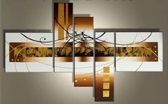 Modern Painting Wall Decor 5 Pieces Oil On Canvas Art Modern Decoration New #Unbranded #Modernism