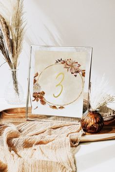 DIY printable boho watercolour hoop table number/name. image 0 Wedding Table Numbers, Wedding Reception Decorations, Floral Watercolor, Watercolour, Modern Wedding Stationery, Wedding Inspiration, Wedding Ideas, Name Cards, Boho Wedding