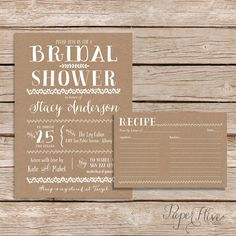 Hey, I found this really awesome Etsy listing at https://www.etsy.com/listing/212316683/rustic-bridal-shower-invitation-with