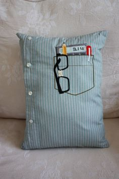 Nerd Pocket Pillow by dirtsastudio on Etsy