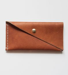 Leather Clutch Wallet | Store those hard earned dollar bills in this sleek wallet. Thi... | Wallets & Money Clips