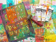 Let's Play Using a Little Gelli Plate® and a Big Stencil Video Using a Little Gelli Plate® and a Big Stencil for Happy Art Play