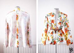 Incomplete 1950s style floral jacket. http://www.styleslicker.com/2012/04/12/diy-1950s-style-jacket-part-1/