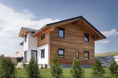 Schön, wenn moderne Architektur die Traditionen der jeweiligen Region aufgreift und ihnen ein Überleben sichert. Ein junges Paar im Voralpenland hat sich für eine spannende Verbindung von Holz und Putz entschieden.