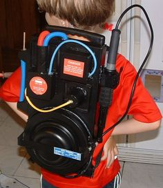 How cool is this DIY Ghostbusters proton pack?! For roughly £10 and a few hours of time! Awesome!