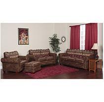 Sierra Lodge Sleeper Sofa, Loveseat, Chair and Ottoman Set