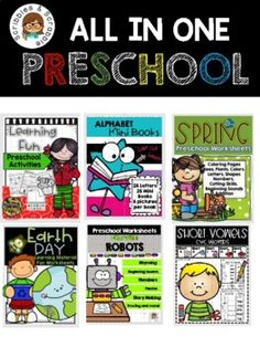Preschool Worksheets All in. by Scribbles and Scrabble Preschool Worksheets, Teacher Resources, School Resources, Counting Activities, Literacy Skills, Little Learners, Elementary Math, Fun Math, Mini Books