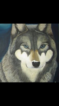 Wolf Painting 100x100