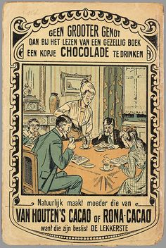 Van Houten's Cacao of Rona-Cacao Vintage Advertising Posters, Old Advertisements, Vintage Posters, Van Houtens, Pub Vintage, Nostalgia, Food Poster Design, Old Commercials, Art Deco Posters