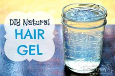 DIY Natural Hair Gel Tutorial!  Does your husband goes through his hair gel rather quickly?! Mine sure does. In response, I searched the internet and foun
