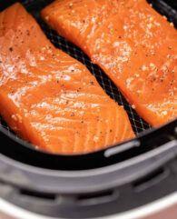 Air Fryer Salmon | Plated Cravings Best Lamb Chop Recipe, Lamb Chop Recipes, Air Fryer Dinner Recipes, Air Fryer Recipes, Chops Recipe, Lamb Chops, Pot Roast, Cravings, Salmon