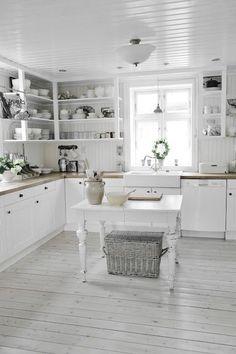 Gorgeous white #kitchen