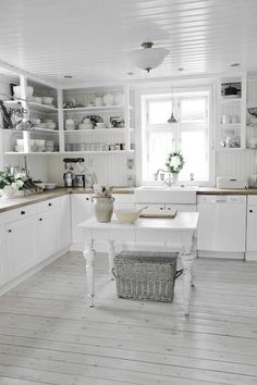 white cottage kitchens. Gorgeous White #kitchen Cottage Kitchens