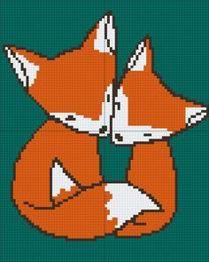 ideas for knitting charts fox alpha patterns Cross Stitch Charts, Cross Stitch Patterns, Fox Crafts, Pixel Pattern, Baby Sewing Projects, Crochet Fox, Mittens Pattern, Alpha Patterns, Sewing Art