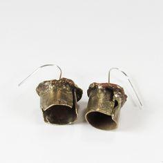 Roxy Lentz earrings of re purposed silver plate.
