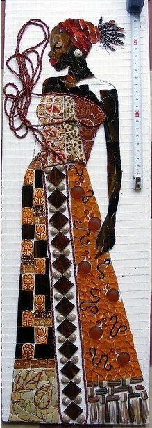 ART + ART + ART = MOSAICS = BLACK WOMAN