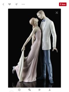 Happy anniversary by LLADRO Bridal and anniversary gift valentines gift issue year 1997 sculptor Jose puche Size 12 1/2 x81/4