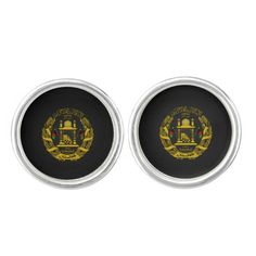Afghan coat of arms cufflinks