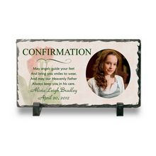 Confirmation marks the acceptance of Christianity for a person, so it's a very big moment in one's life. Help make the crossing memorable for a lifetime with this photo slate plaque that is made out of metamorphic rock. Perfect for anyone who has recently undergone a Confirmation. #confirmation #gift #pictureframe