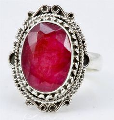 ROYAL RUBY GEMSTONE RING SOLID 925 STERLING SILVER JEWELRY SIZE 7.25 IR22922